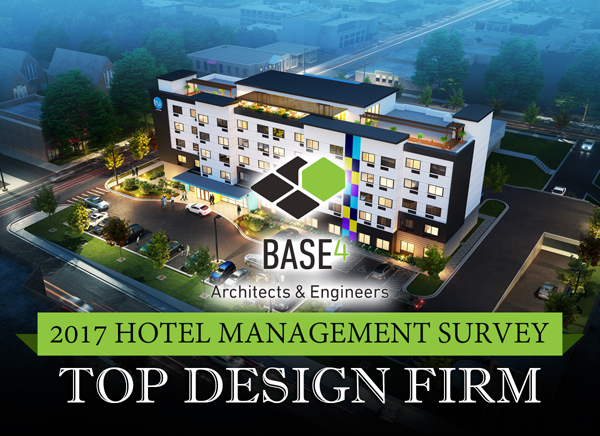 Base4 top hotel design firm recognition 2017 for Top architecture firms 2017